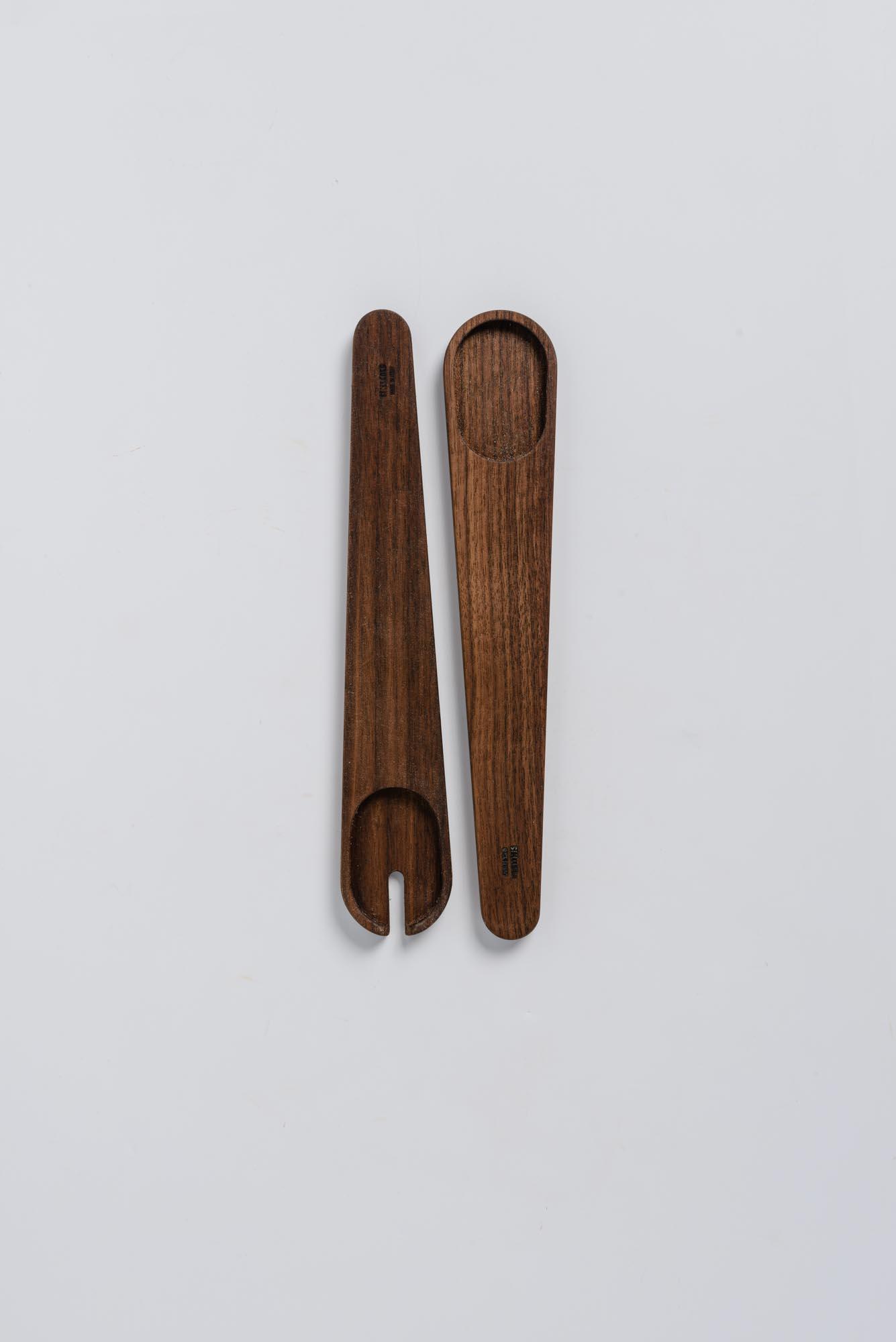 Set di 2 mestoli in legno cucchiaio e forchetta for Set mestoli cucina